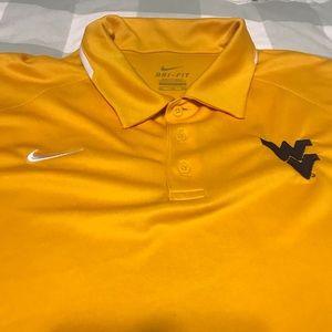 Gold WVU Nike Dri-Fit Polo - XXL